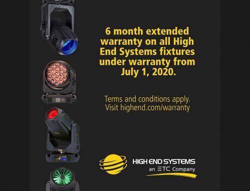 Nu förlänger High End Systems garantin