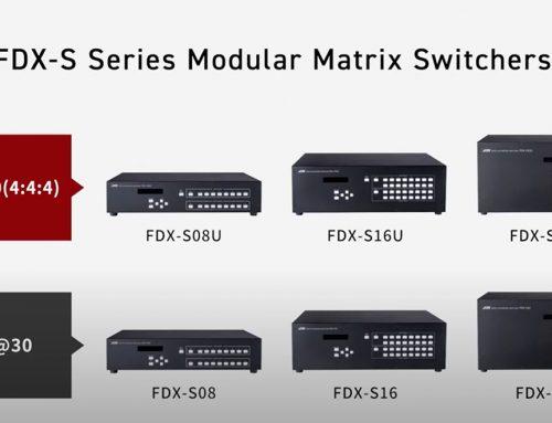 IDK FDX-S är en ny serie 4K@60 modulära matrisswitchar